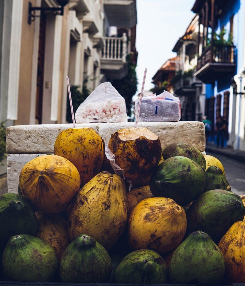 Limonada de coco colombiana