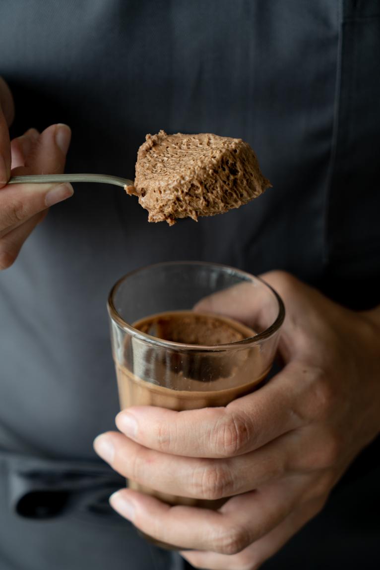 Mousse de chocolate | método sabayon