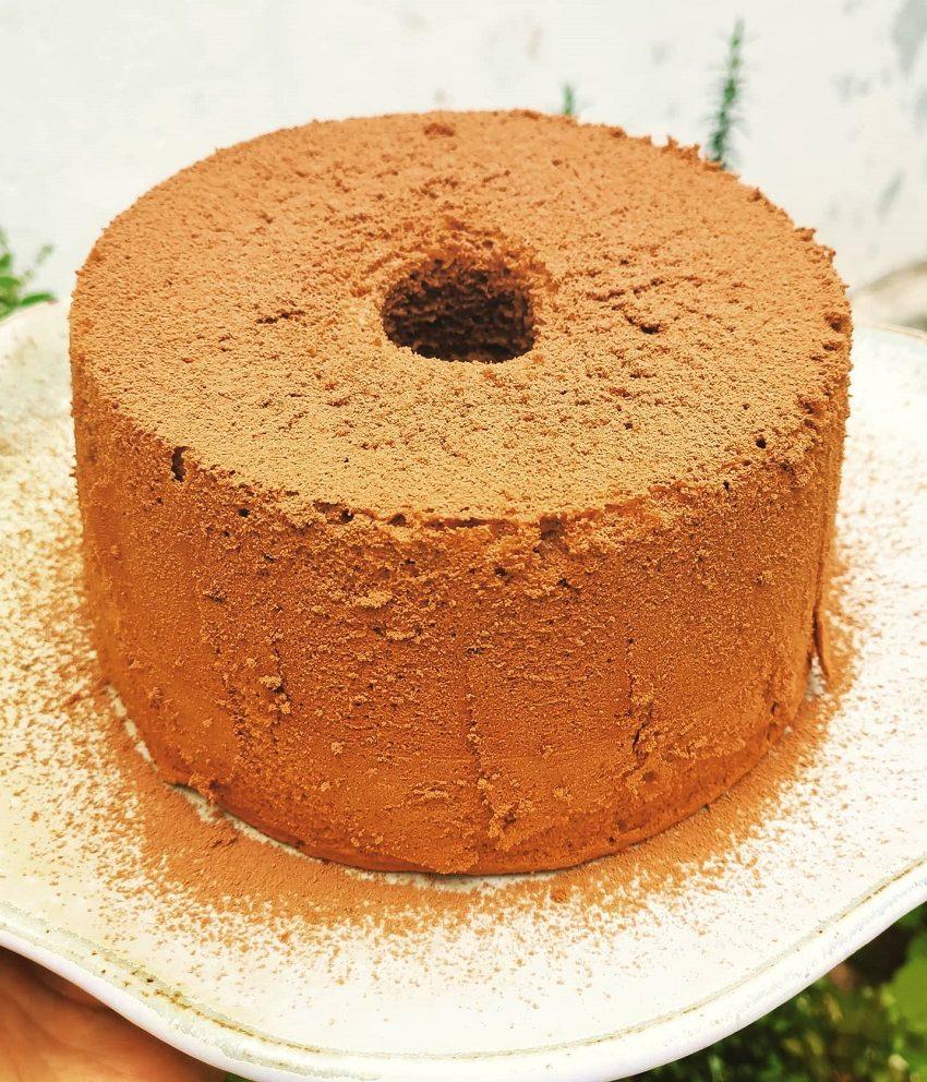 Chiffon Cake de Chocolate