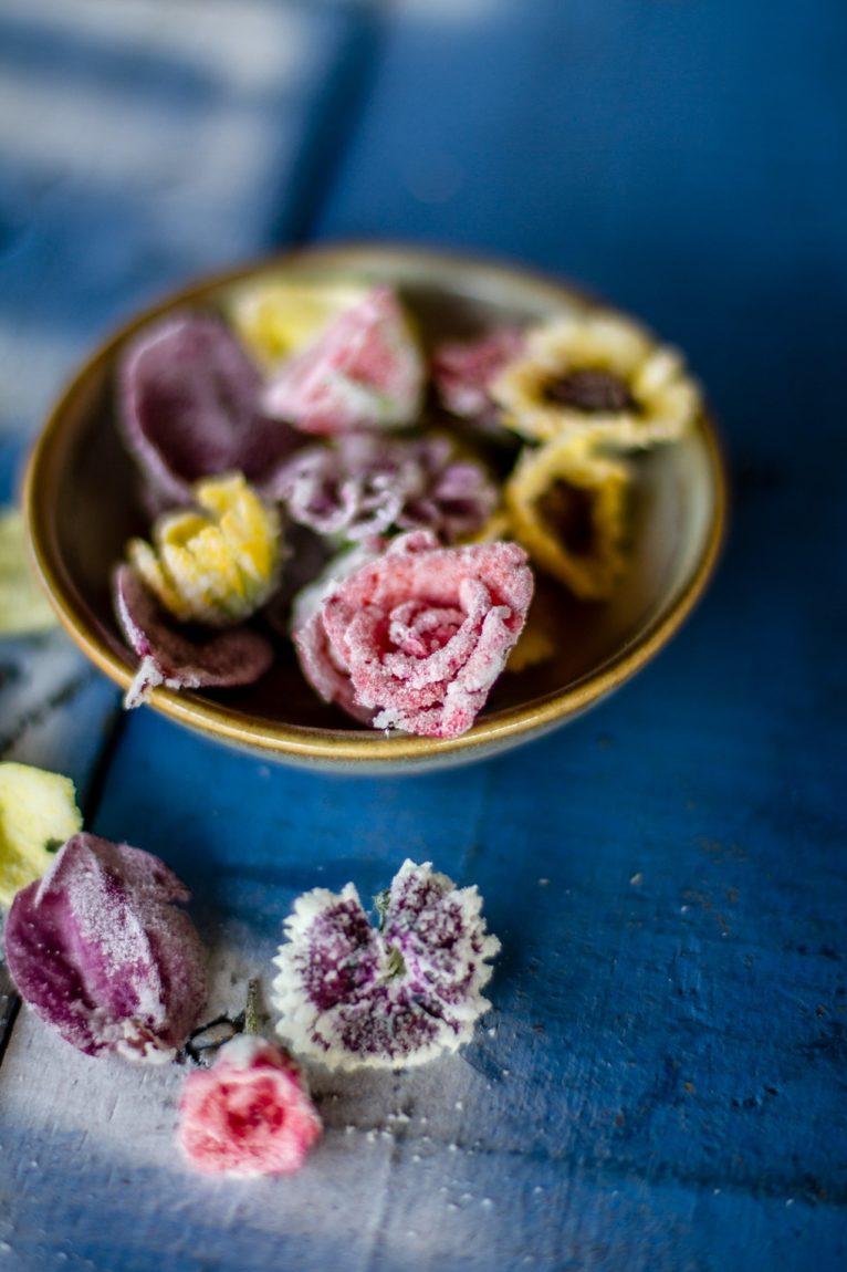 Flores cristalizadas