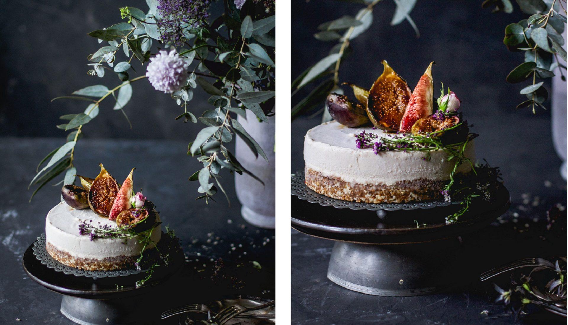 Torta vegana de figos e castanhas