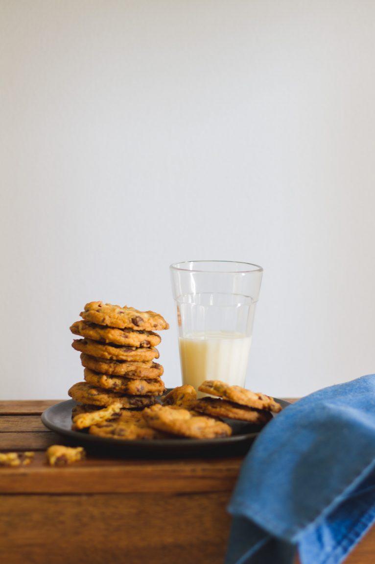 Cookie de baunilha com chocolate
