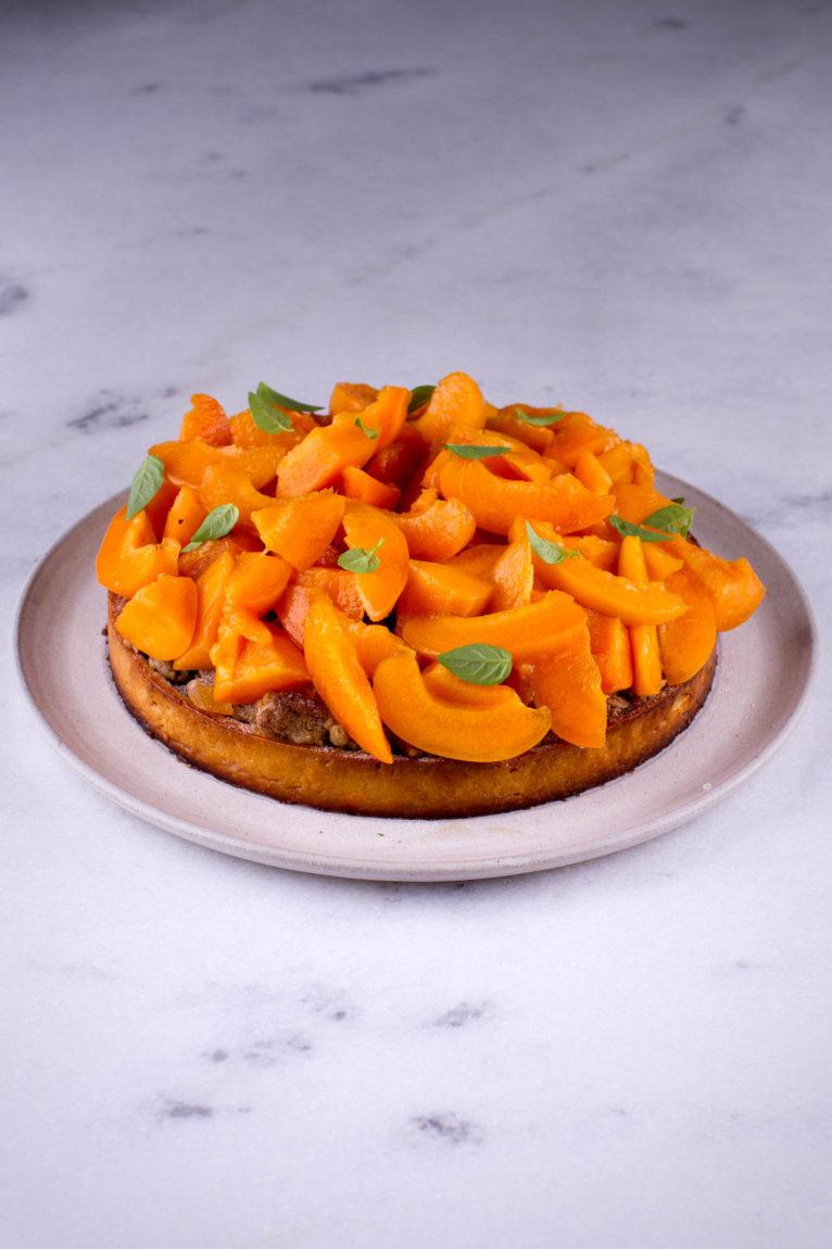 Torta de damasco crocante