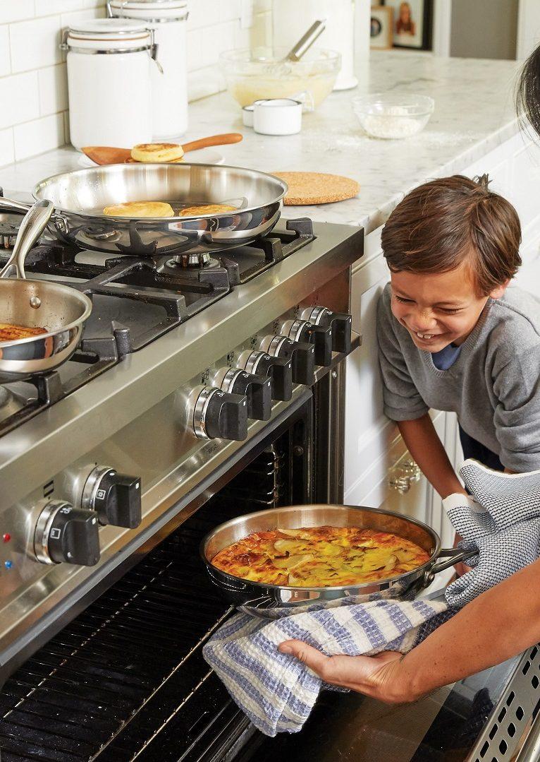 A felicidade do lar vem do fogão