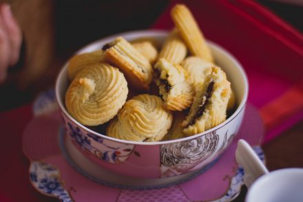 Biscoito amanteigado recheado com nutella