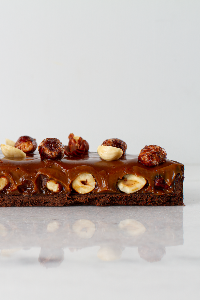Torta de chocolate e avelã