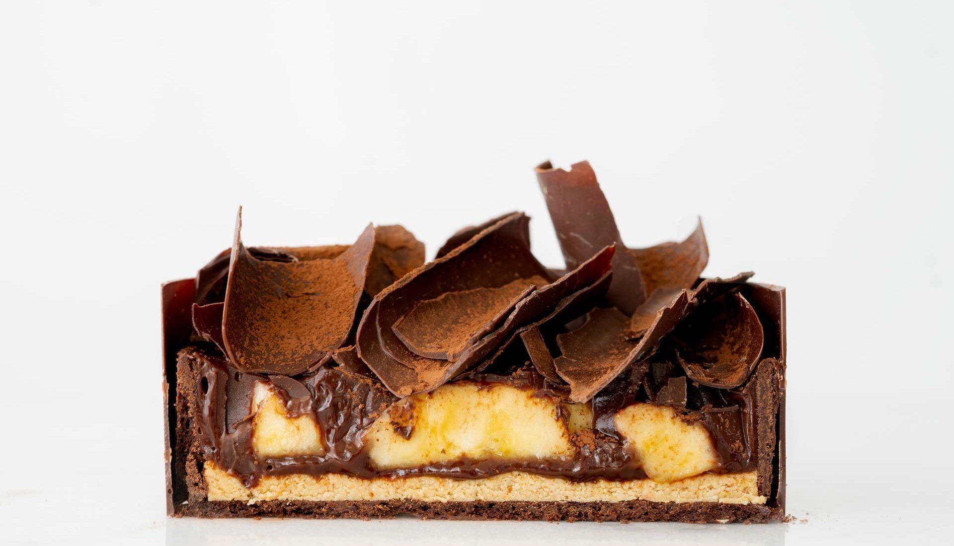 Torta de chocolate com banana