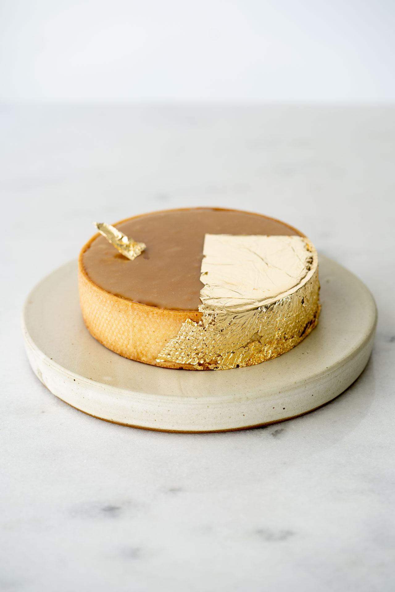 Torta de caramelo com amendoim
