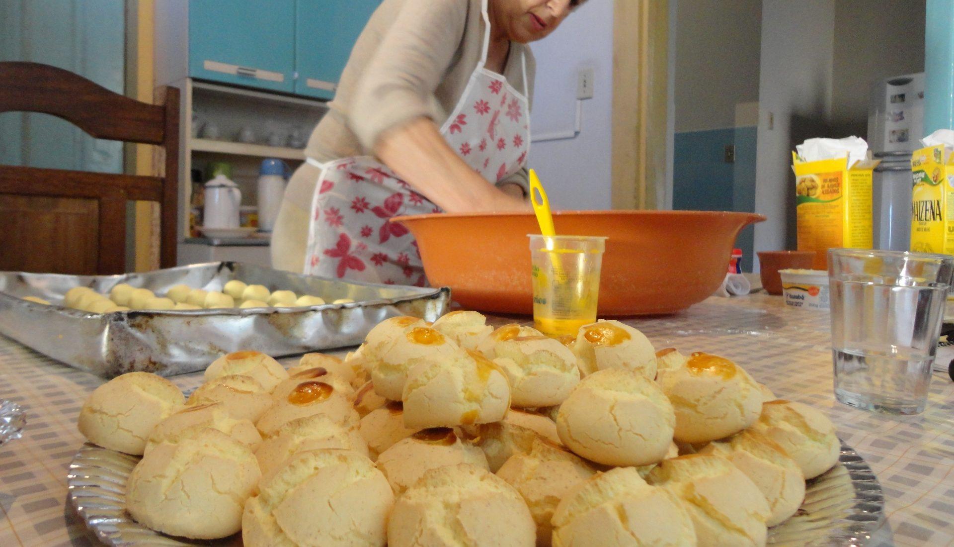 Os biscoitos caseiros levam os cabedais