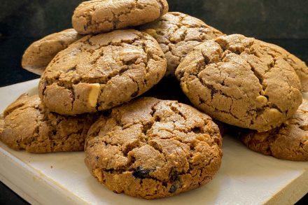 Cookie vegano de amendoim